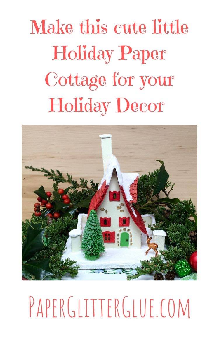 How to make a Miniature Holiday cottage paper house
