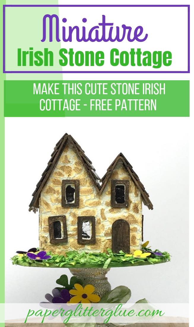 Miniature Irish Stone Cottage putz house step by step instructions