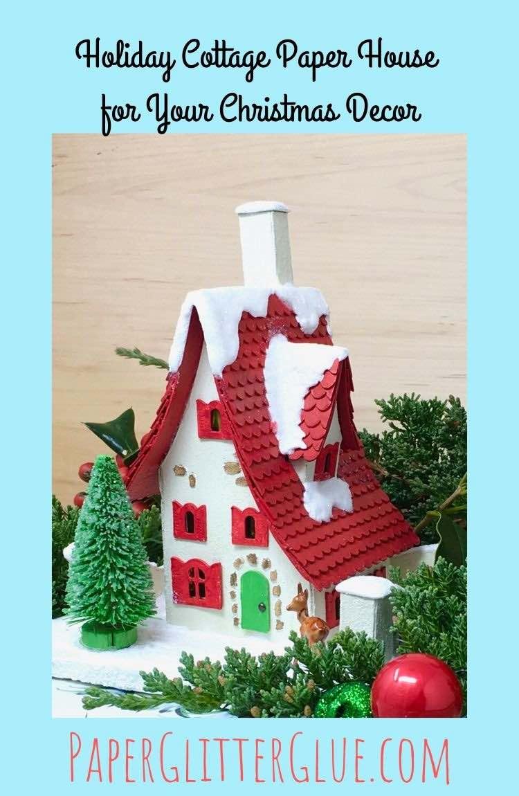 Miniature Paper Cottage tutorial