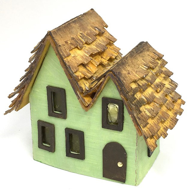 Miniature irish cottage thatched roof