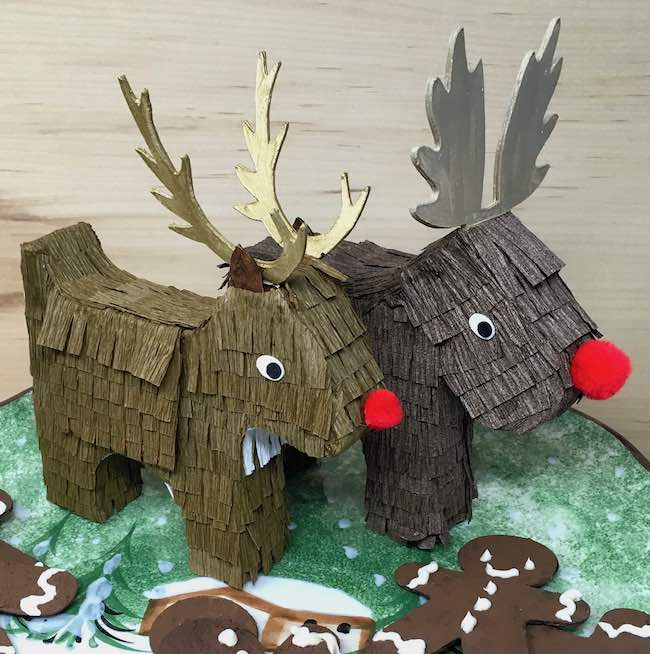 Moose and Reindeer pinata candy boxes