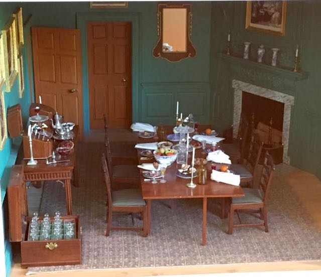 Miniature Mt. Vernon scale model of dining room