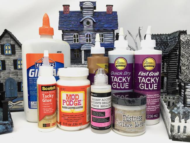 My favorite types of glue to make my little houses