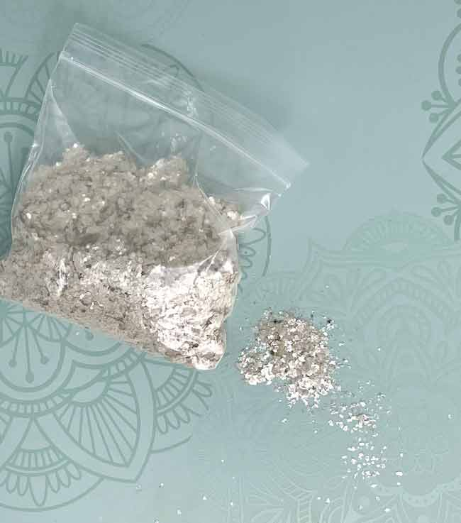 Natural color mica for using on paper houses