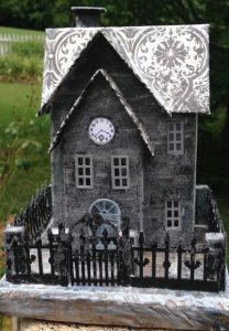 Clock House on a Frosty Morn Revisited- Halloween Paper House