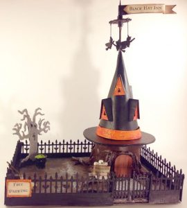 The Making of Black Hat Inn Cardboard Halloween House