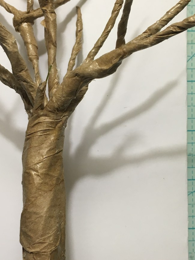 Overwrap tree branches for spooky tree
