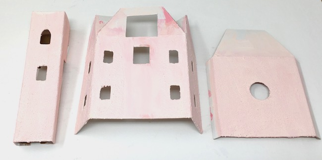 Painted parts for Valentine Villa