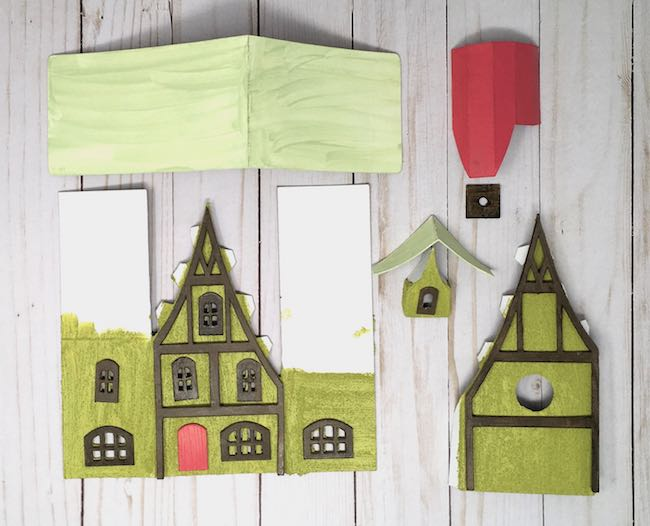 Painted pieces for the Storybook Putz house