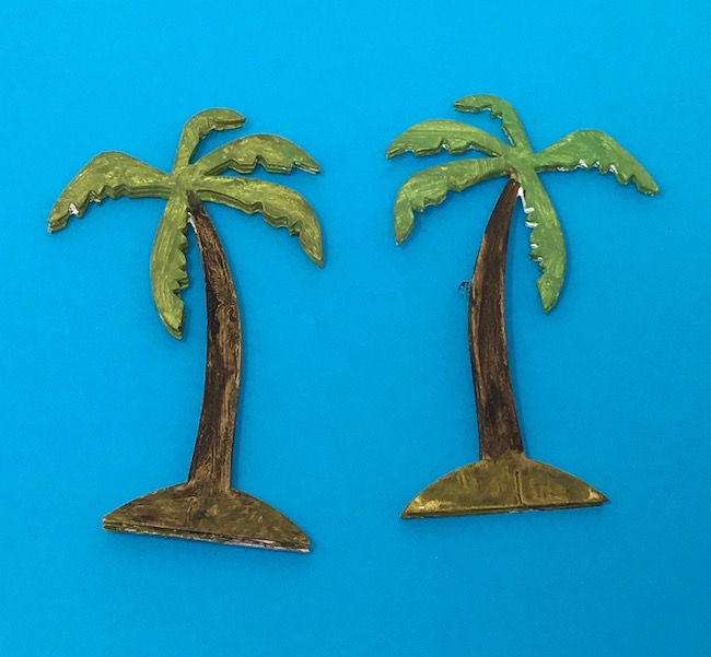 Palm trees for Jurassic Egg Dinosaur Diorama