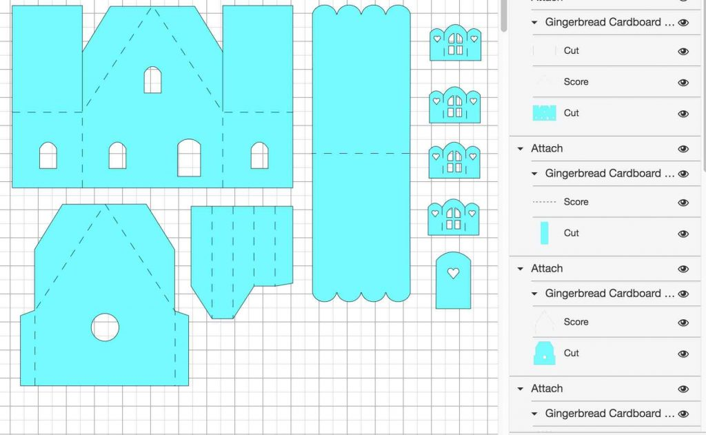 Paper Gingerbread House in Cricut Design Space