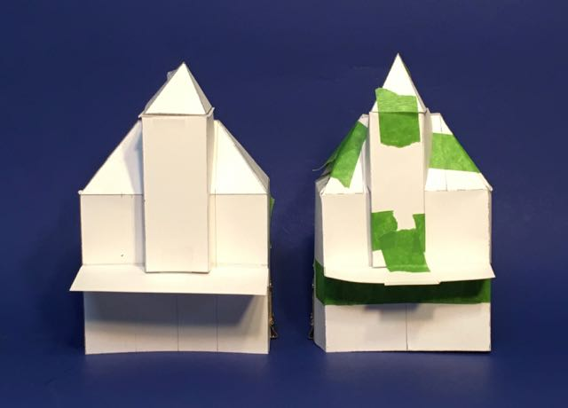 Paper prototype after prototype for the Wilkins House
