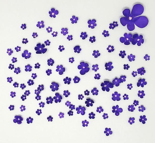 Paper violets