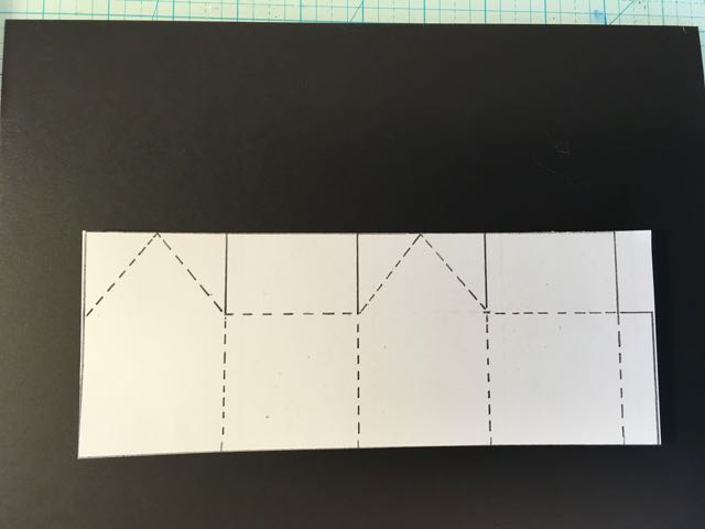 Cut out for template for mini paper house to trace onto cardboard