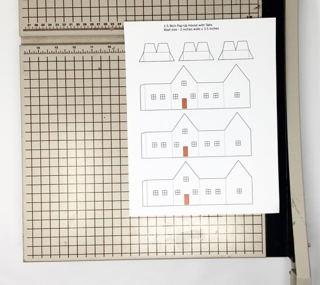 Pattern sheet for paper pop-up house #papercraft #popuphouse