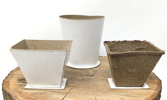 Peat pot Easter basket templates with cardboard base