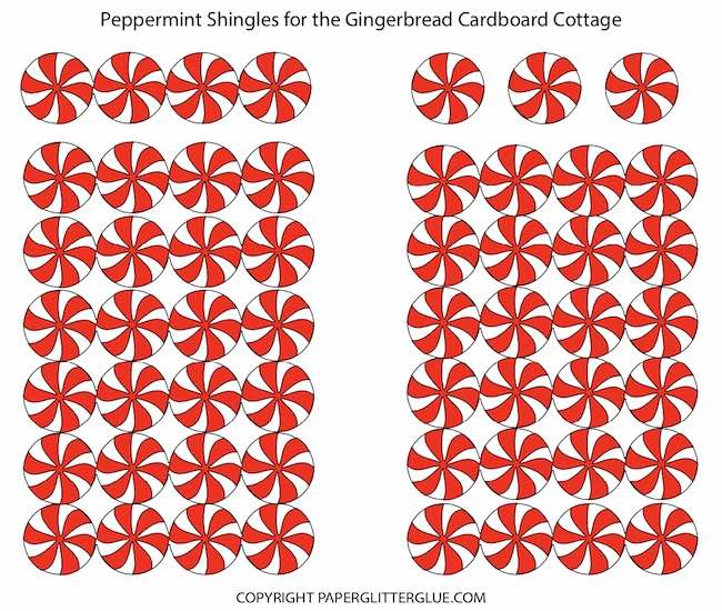Peppermint Shingles for Gingerbread Cardboard Cottage