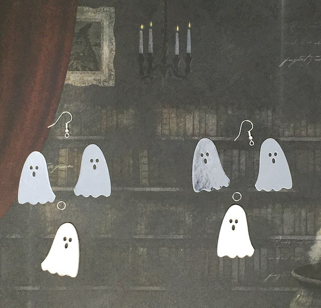 Pieces required for ghost earrings
