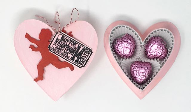 Pink heart candy box that you can make for Valentine's Day