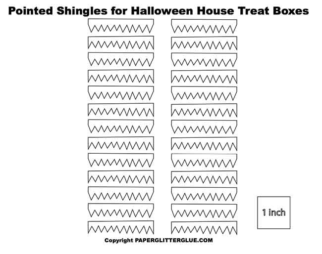 Pointed shingles for paper Halloween house box