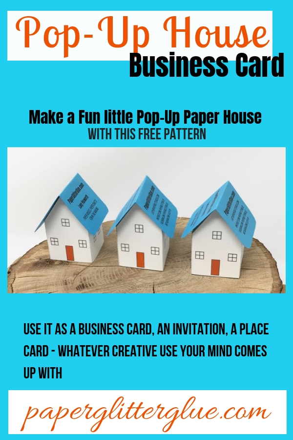 Pop-Up House Business Card #popuphouse #paperpattern #papercraft