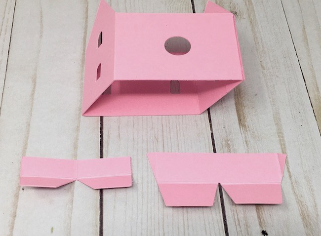 Pop-up tab roof beam and paper house structures