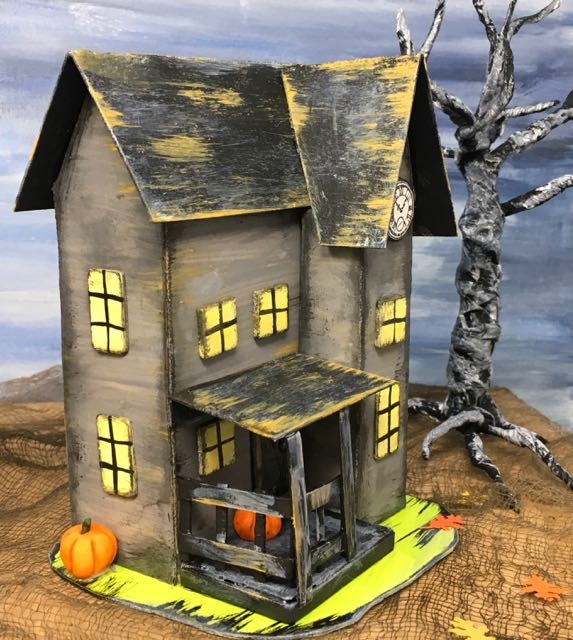Halloween Paper Houses to make for your very own Halloween village