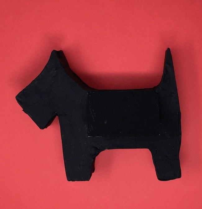 Primed scotty dog gift box