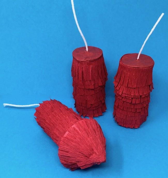 Pull string firecracker pinatas