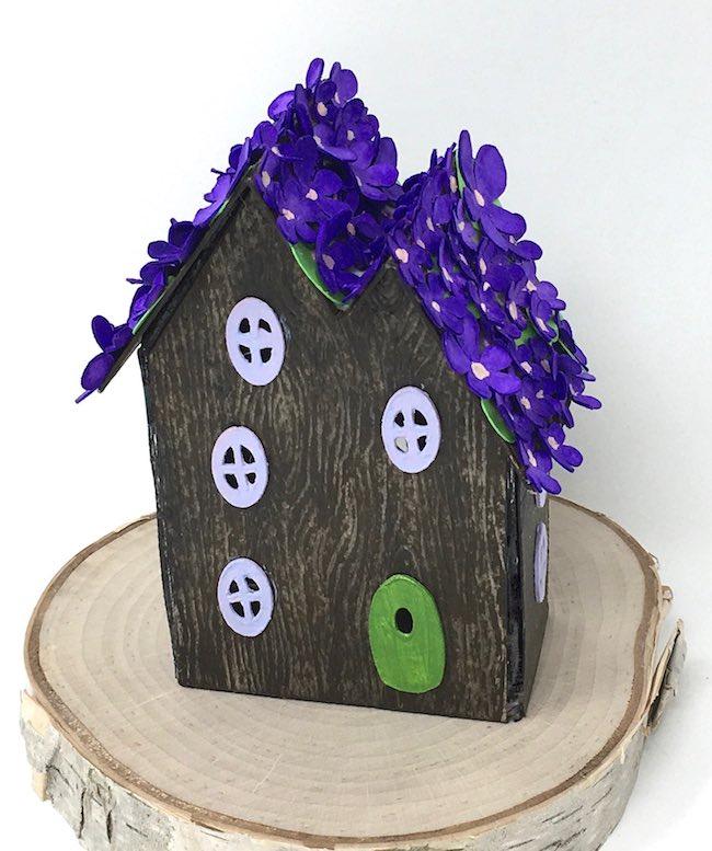 Purple violet fairy house