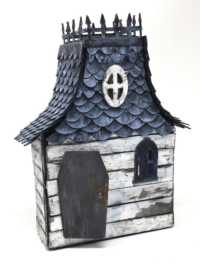 Recycled Halloween House