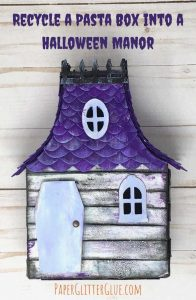 Recycled Halloween Manor from a Pasta box