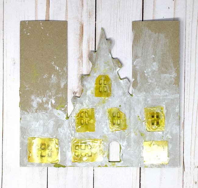 Recycled acetate packaging windows back putz house