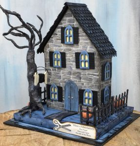 Hilda's Haberdashery – A Miniature Two-Sided Halloween Shop