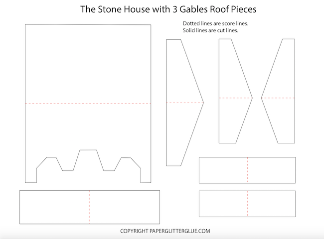 Roof pieces for Stone House