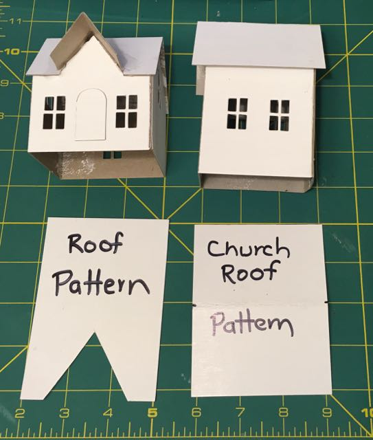 Roof template for village dwelling village brownstone putz houses