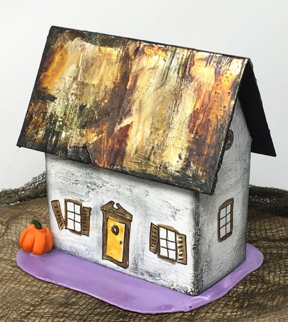 Rusted roof Halloween paper house no 2