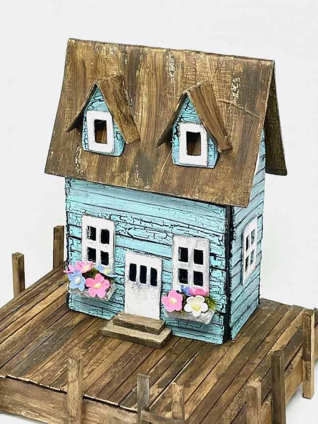 Sea Shack Miniature House on Pier
