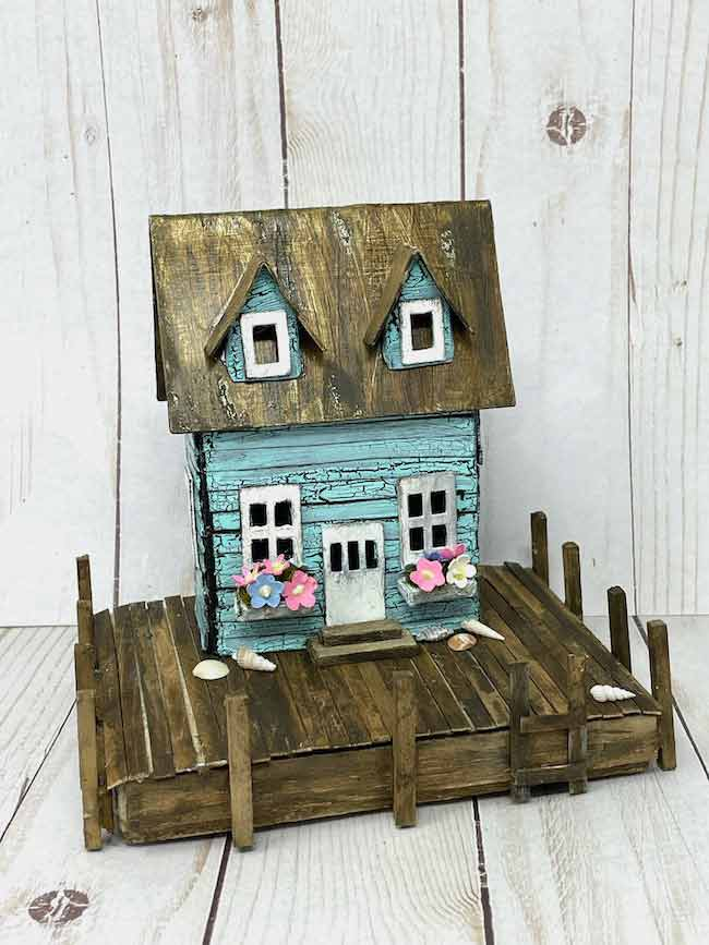 Sea Shack with easy crackle paint
