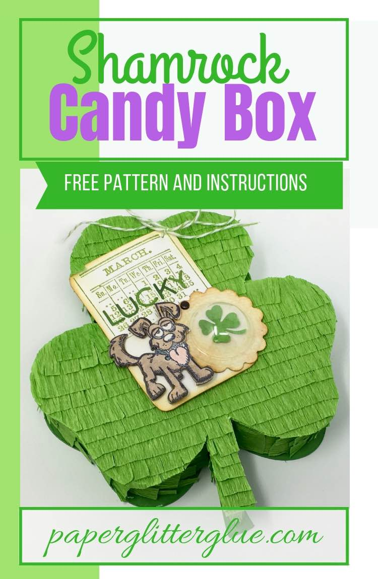 Shamrock Candy Box or treat box free pattern and DIY instructions