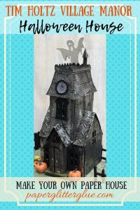 Shimmer and Shine Metallic Village Manor Halloween Putz House