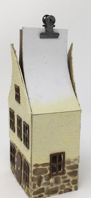 German Half-Timbered paper house in progress #putzhouse #glitterhouse #christmasvillage #papercraft