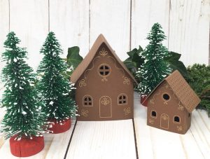 Small and tiny houses with foil transfer design