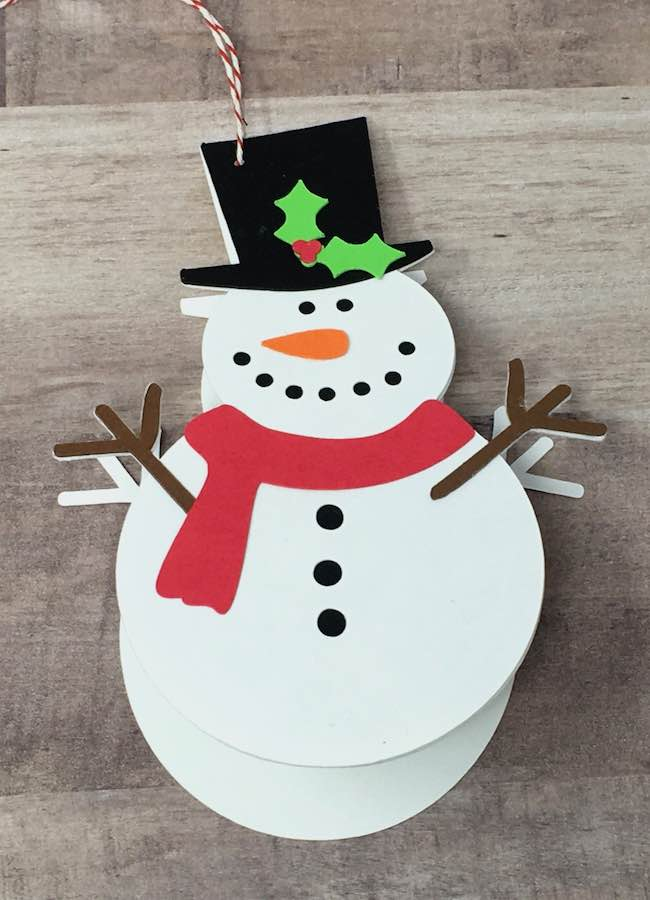 Snowman gift card that opens