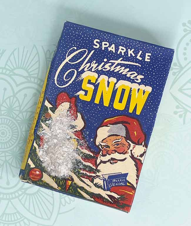 Sparkle Christmas Mica Snow which is perfect for making paper houses