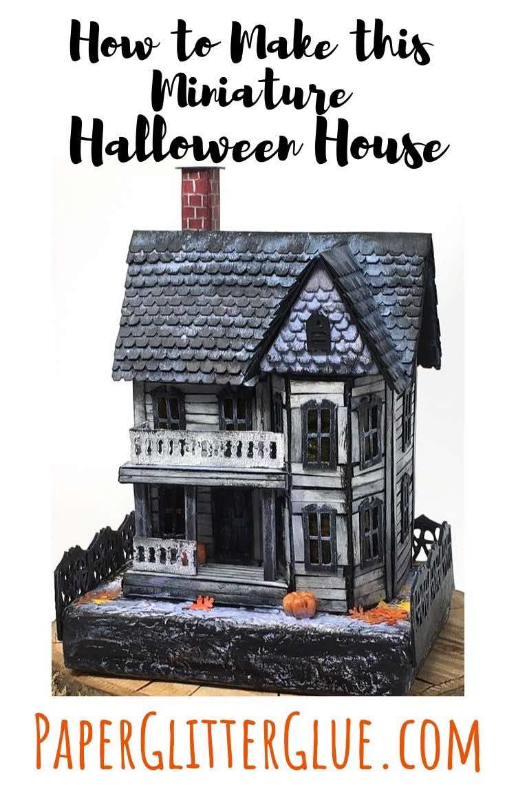 Spooky Miniature Halloween House tutorial and pattern