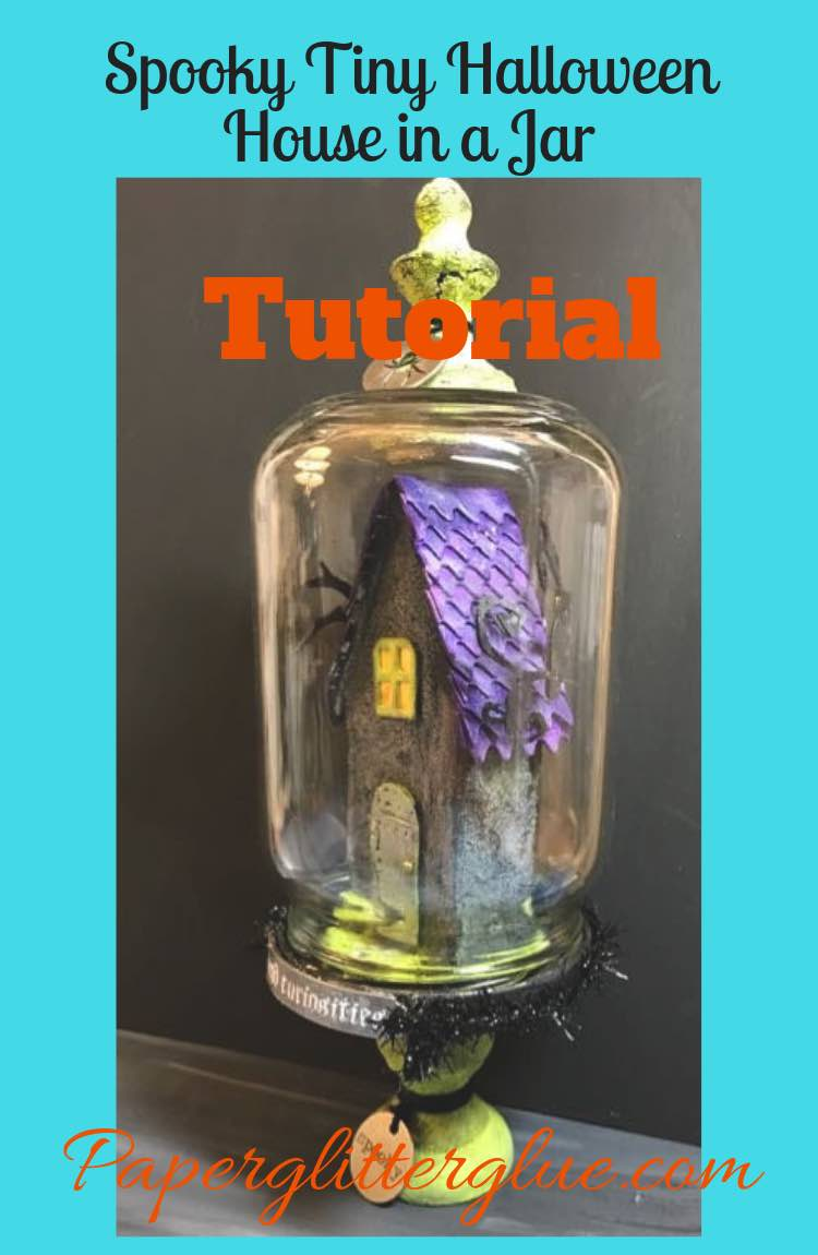 Spooky Tiny Halloween House in a Jar