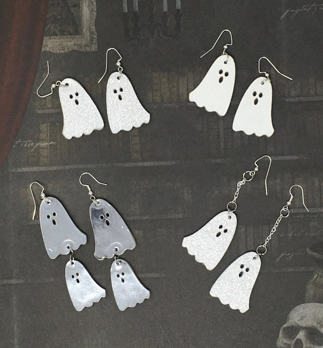 Spooky little ghost earrings
