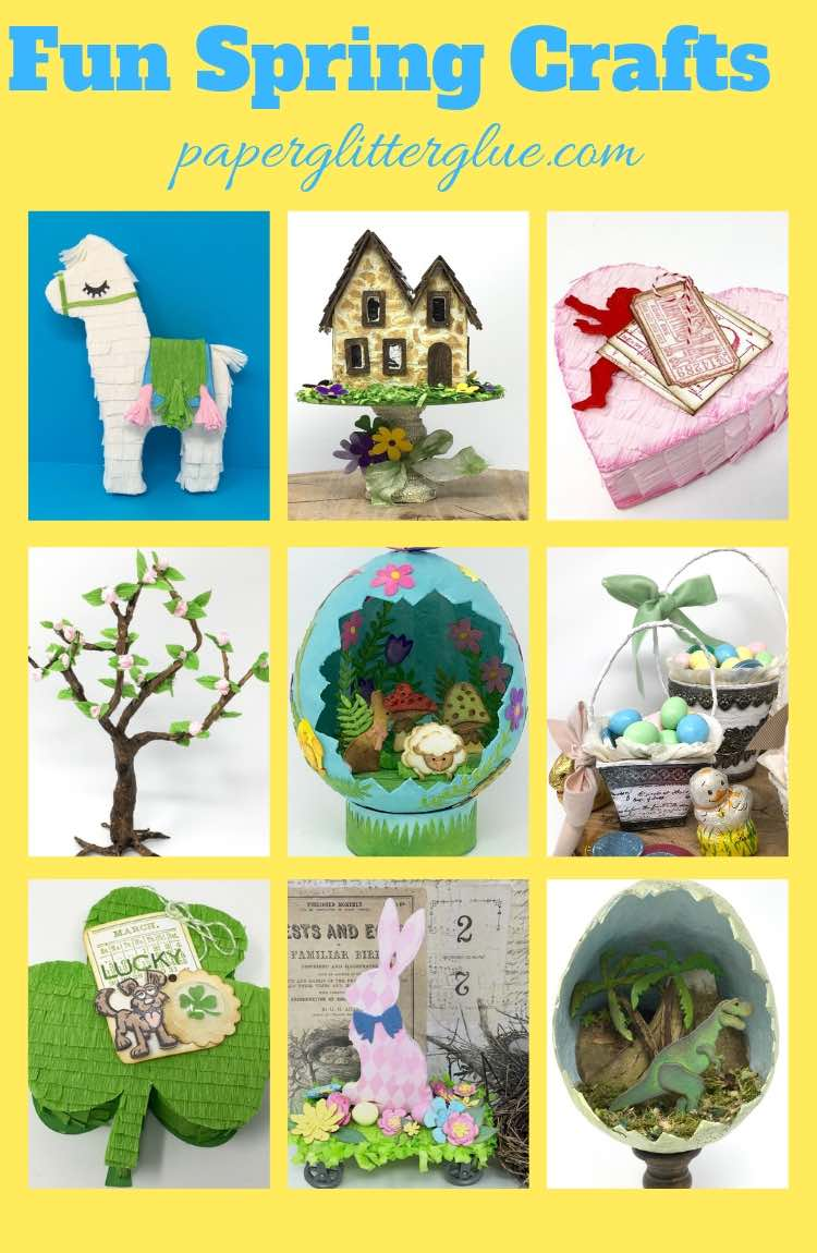 Photo Collage of Spring Craft DIY projects