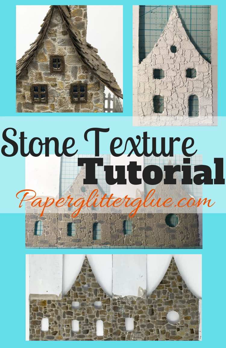 Stone Texture tutorial papercrafts